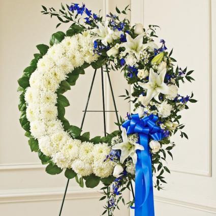 Serene Blessings Standing Wreath