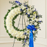 Serene Blessings Standing Wreath