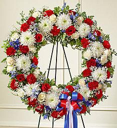 Serene Blessings, True Patriot Standing  Wreath