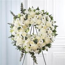 Serene Blessings™ White Standing Wreath