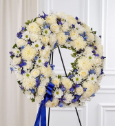 Serene Blessings Wreath Arrangement