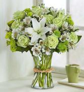 Serene Green Bouquet All-Around Floral arrangement