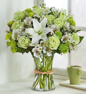 Serene Green Bouquet All-Around Floral arrangement in Winnipeg, MB | KINGS FLORIST LTD