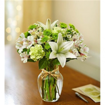 Serene Green Flower Arrangement