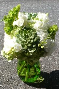 Serene Green Garden Bouquet Design