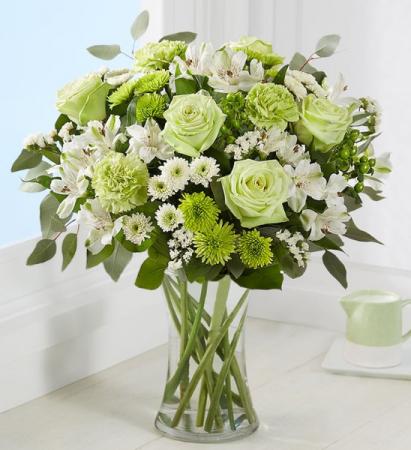 Serene Green Vased Arrangement