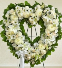 Serene Open Heart Wreath