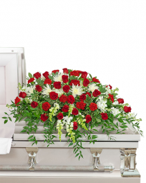 Serene Sanctuary Casket Spray Sympathy