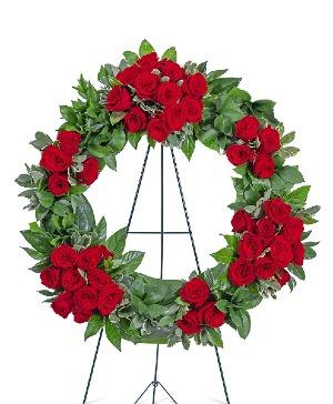 Serene Sanctuary Wreath Sympathy in Nevada, IA | Flower Bed