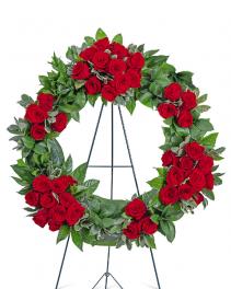 Serene Sanctuary Wreath Sympathy Arrangement