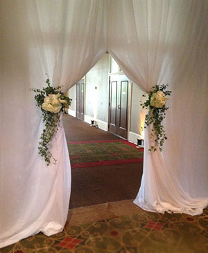 Serene Sunshine Curtain Accents in Port Stanley, ON | Flowers By Rosita