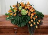 Serene Tropical Casket Flowers