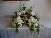 White Orchids & Lilies Surround Light & Airy $150.00