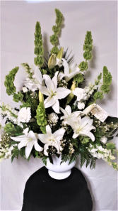 Serenity all white funeral arrangement