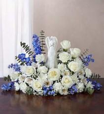 Serenity Angel Arrangement™ Blue and White