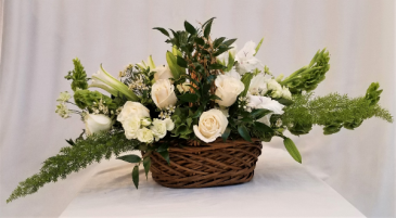 Serenity Basket Sympathy arrangement