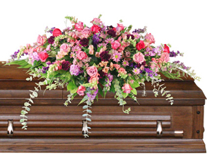 Divine Destination Casket Spray in Nevada, IA | Flower Bed