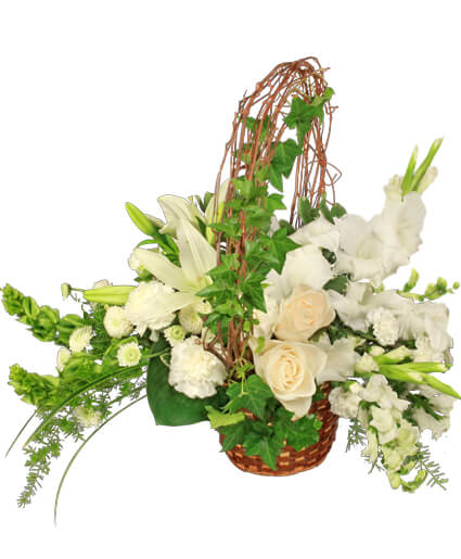 Serenity Flower Basket Basket Arrangements Flower Shop Network