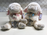 Serenity Lambs with Crib Cross blue or pink Any occasion