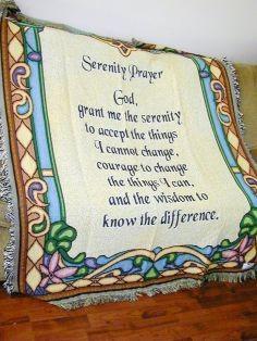 """""""Serenity Prayer"""" Afghan (Throw)"""