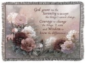 Serenity Prayer Blanket/ Tapestry Sympathy or Everyday
