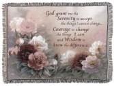 Serenity Prayer Blanket/ Tapestry Sympathy or Everyday