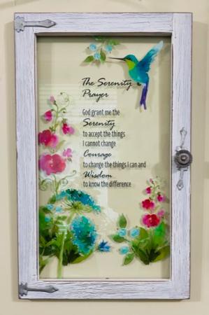 Serenity Prayer Window Wall Decor