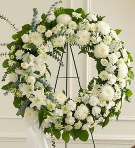Serenity White Wreath  $250.95, $300.95