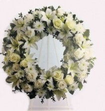 Serenity Wreath  Funeral Flowers