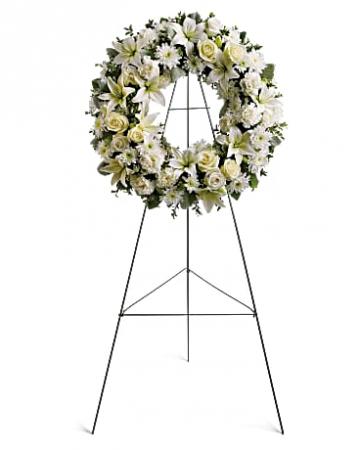Serenity Wreath Funeral Flowers / Standing Spray