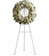 Serenity Wreath One-Sided Floral Arrangement
