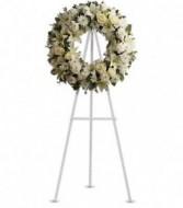 Serenity Wreath white tribute wreath