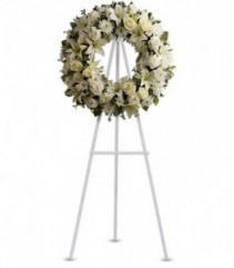 Serenity Wreath white tribute wreath