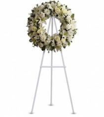 Serenity Wreath Wreath on Easel