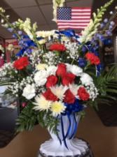Service & Honor Sympathy Floral Basket