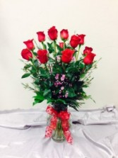Sexy Dozen Red Roses Arrangement