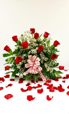 Sexy Red Dz Premium Red roses Basket