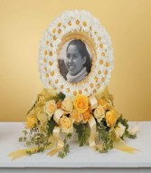 DAISY WREATH PHOTO MEMORIAL sf-107-11