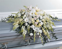 SF5-11-White Full Size Casket Spray Casket Spray