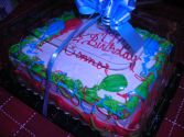 """Double 8"""" Layer WHITE CAKE with VANILLA  BUTTERCREAM ICING! NEED 30 HOUR NOTICE FOR DELIVERY."""
