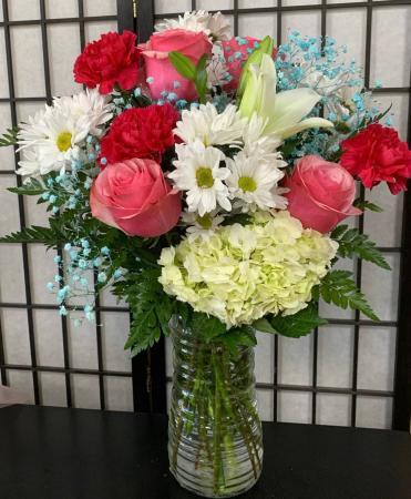 SFS T973 Vased Bouquet