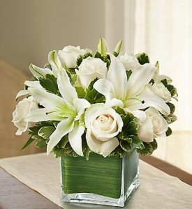 sha7 roses and lilies (white)
