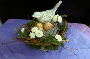 Shabby Chic Bird and Nest SOLD! Silk in Spring Hill, FL | THE IVY COTTAGE