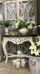 Shabby Chic Carved Side Table
