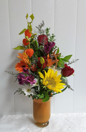 Fall-Shades of Autumn Colors & flower varieties based on availability