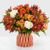 Shades of Autumn  Designer Vase
