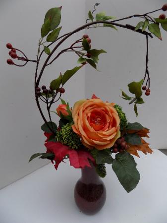 Shades Of Autumn Silk Arrangement In Whitehall Mi White Lake Greenhouses Floral