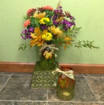 Shades of Autumn  vase arrangement