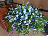 Shades of Blue Casket Spray
