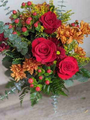 Shades of Fall Fresh Arrangement in New Castle, IN   WEILAND'S FLOWERS